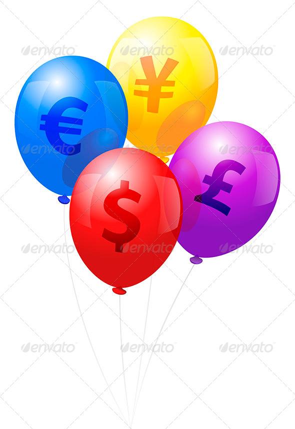 GraphicRiver Balloons Currency 6966220