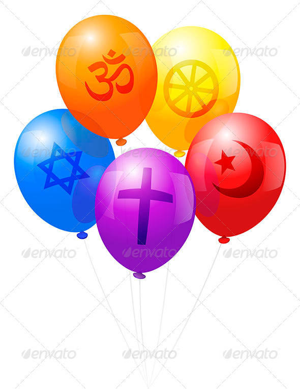 GraphicRiver Balloons World Religions 6966433