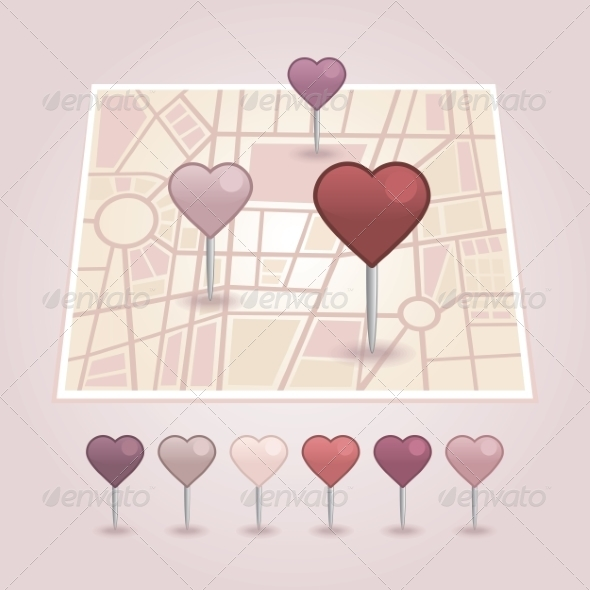 GraphicRiver Map Pointer with Heart Icon 6966684