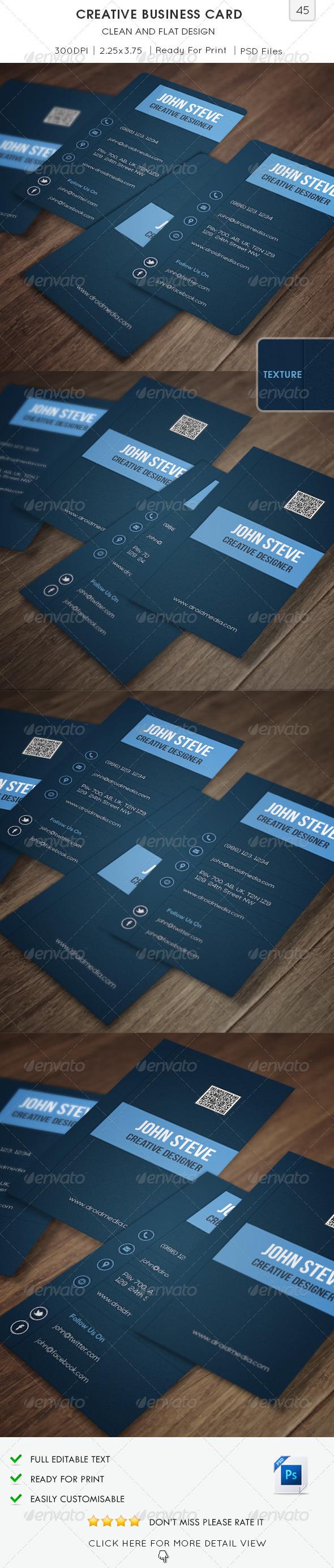 GraphicRiver Creative Business Card v45 6966718