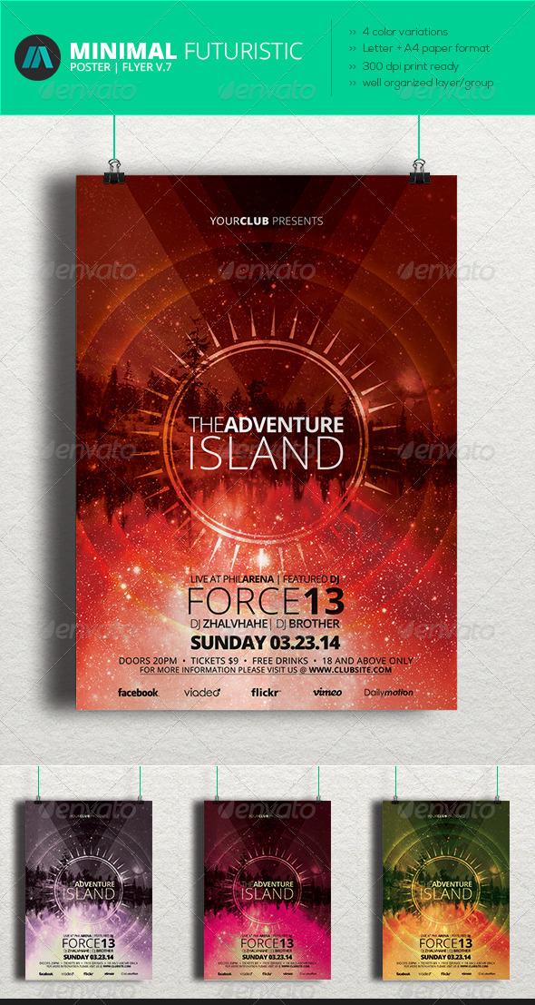 GraphicRiver Minimal Futuristic Poster Flyer V.7 6966720