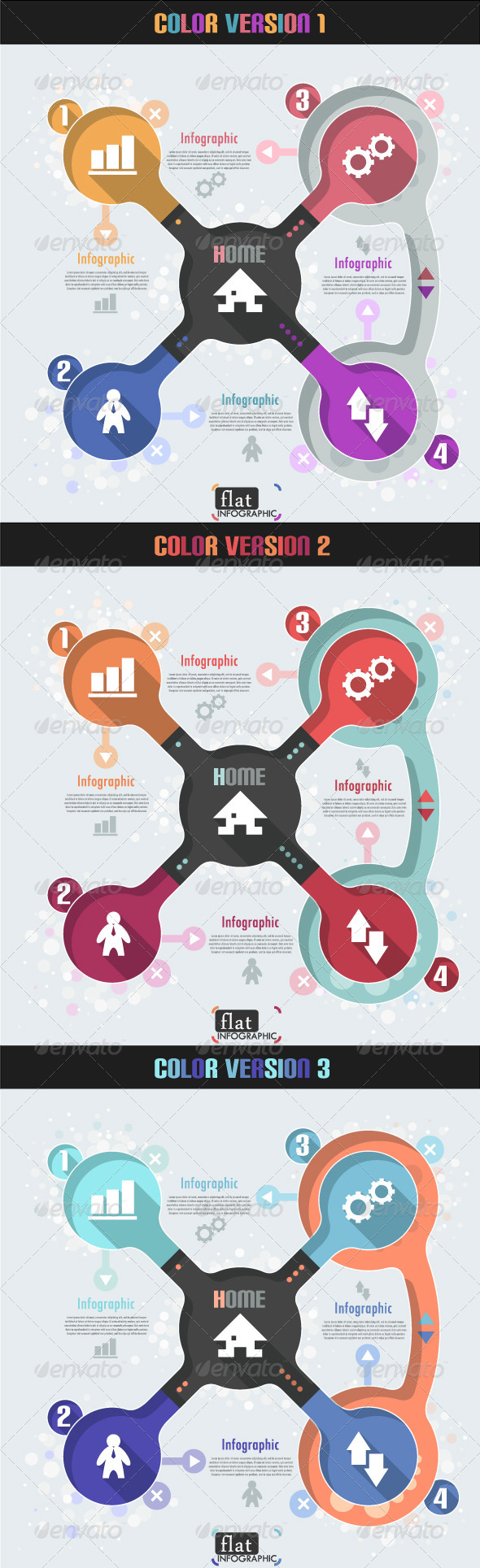 GraphicRiver Flat Infographic Banner Three Versions 6966717