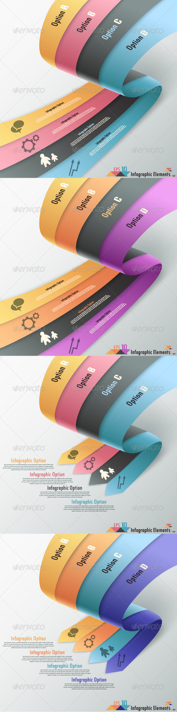 GraphicRiver Modern Infographic Options Banner Four Versions 6966742