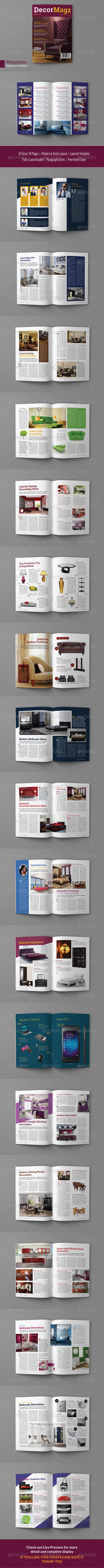 GraphicRiver Decormagz Magazine Template 6967437