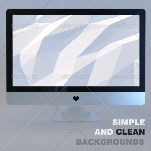GraphicRiver White Planet Mac Backgrounds 6954346