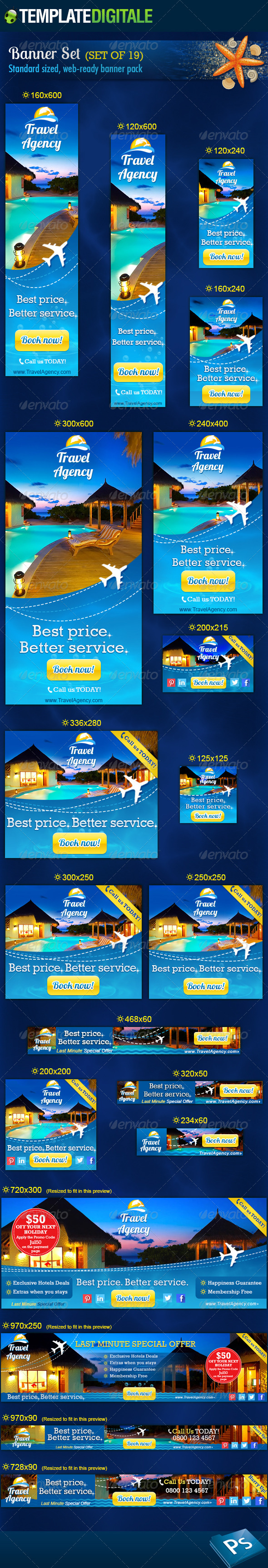 GraphicRiver Travel Agency Banner Set 6966722