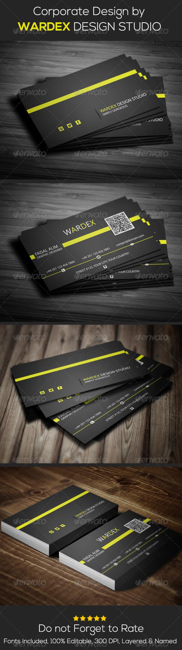 GraphicRiver Corporate Business Card Design 6967523