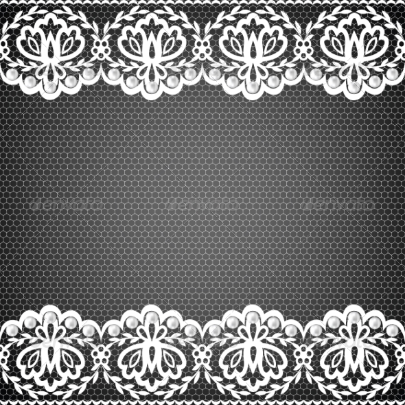 GraphicRiver Lace Fabric Background 6967533