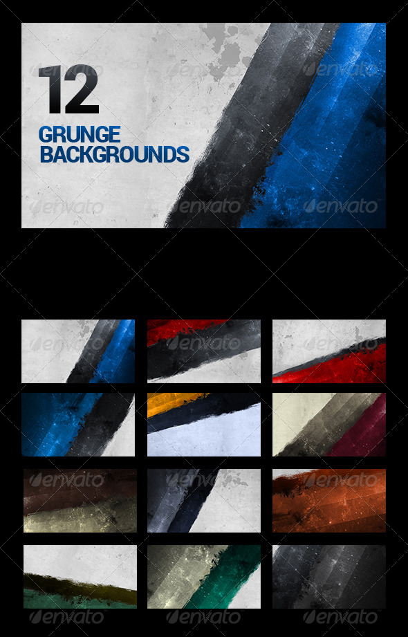 12 Painted Urban Grunge Backgrounds