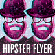Hipster Flyer Template - GraphicRiver Item for Sale