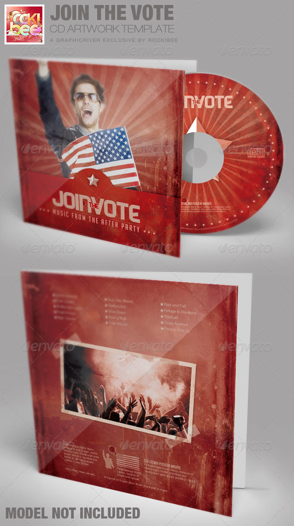 GraphicRiver Join the Vote CD Artwork Template 6967804