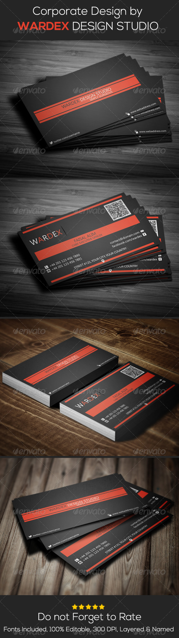 GraphicRiver Corporate Business Card Design 6967819