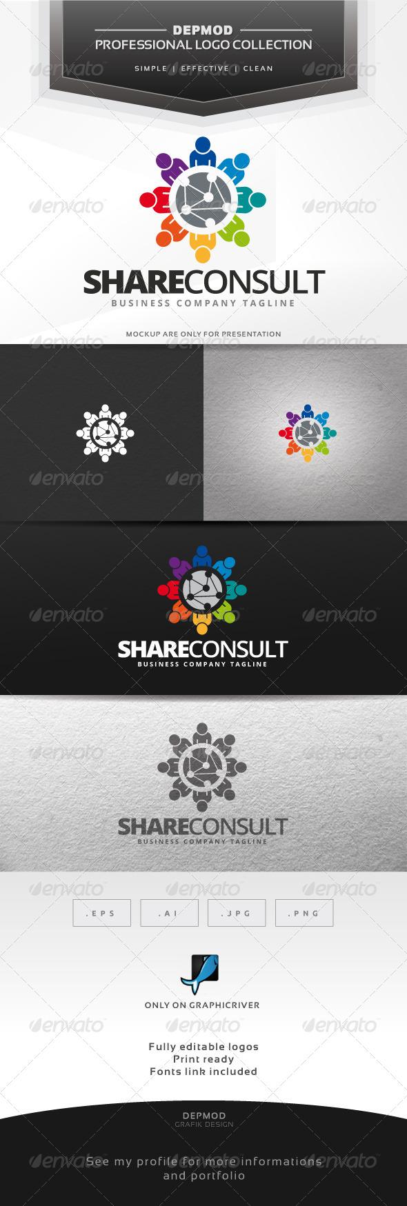 GraphicRiver Share Consult Logo 6967842