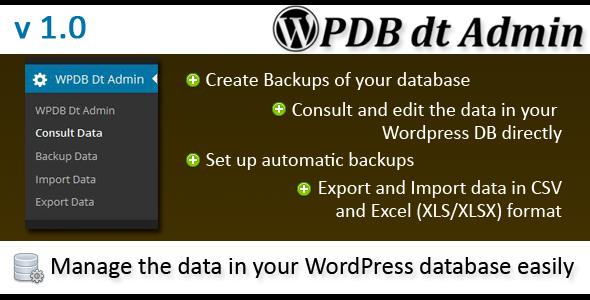 CodeCanyon Wordpress Database data Administrator 6925371