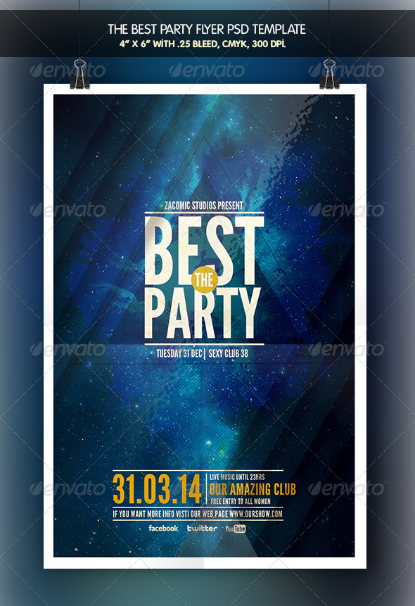 GraphicRiver The Best Party Flyer Template 6968128