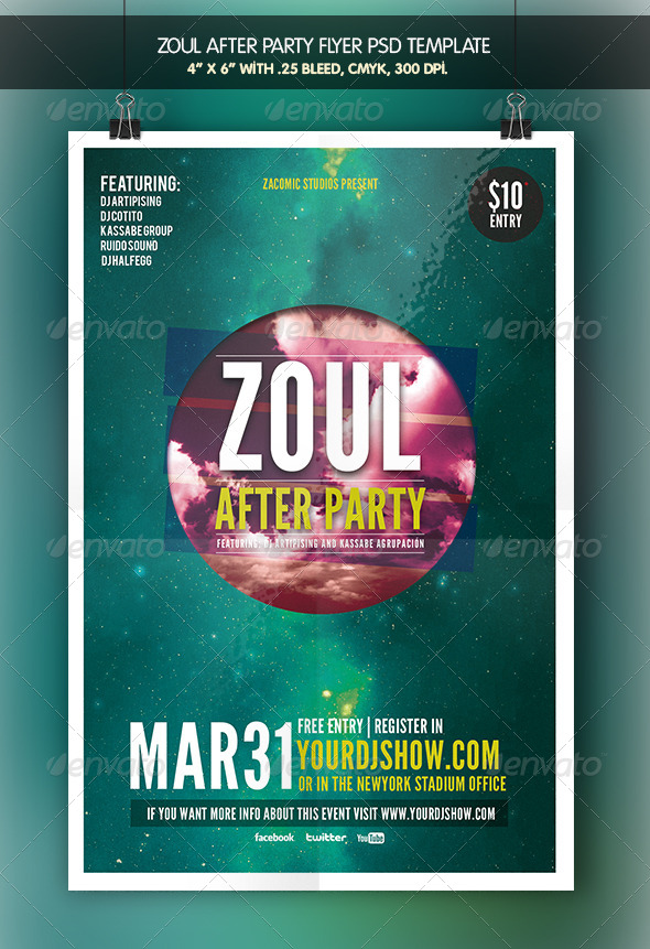GraphicRiver Zoul After Party Flyer Template 6968134