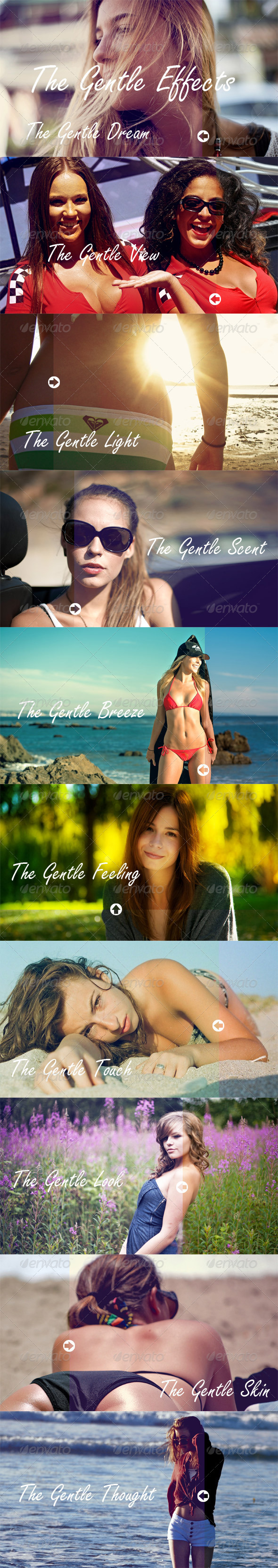 The Gentle Effects - 10 Premium Actions Set - Photo Effects Actions
