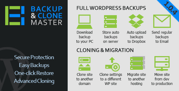 WordPress Backup & Clone Master - CodeCanyon Item for Sale