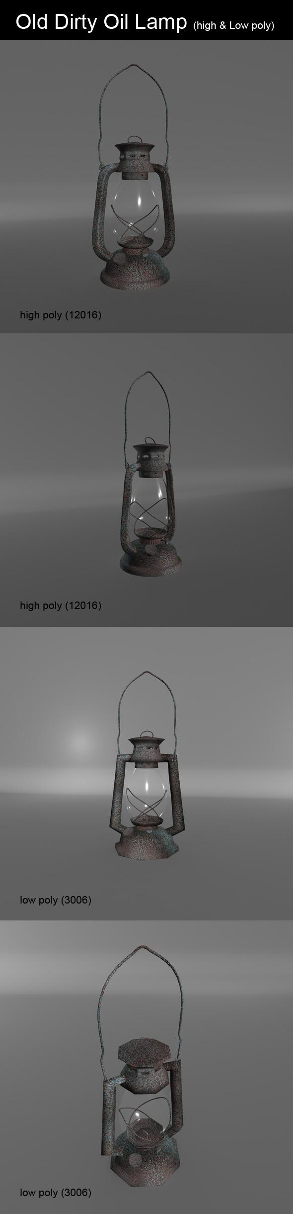 3DOcean Old Dirty Oil Lamp 6968474
