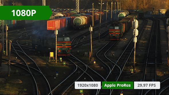 Cargo Train Arriving