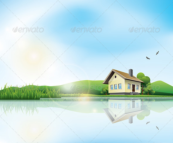 GraphicRiver House at the Lake 6968572