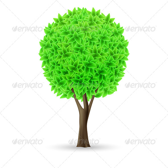 GraphicRiver Green tree 6968904
