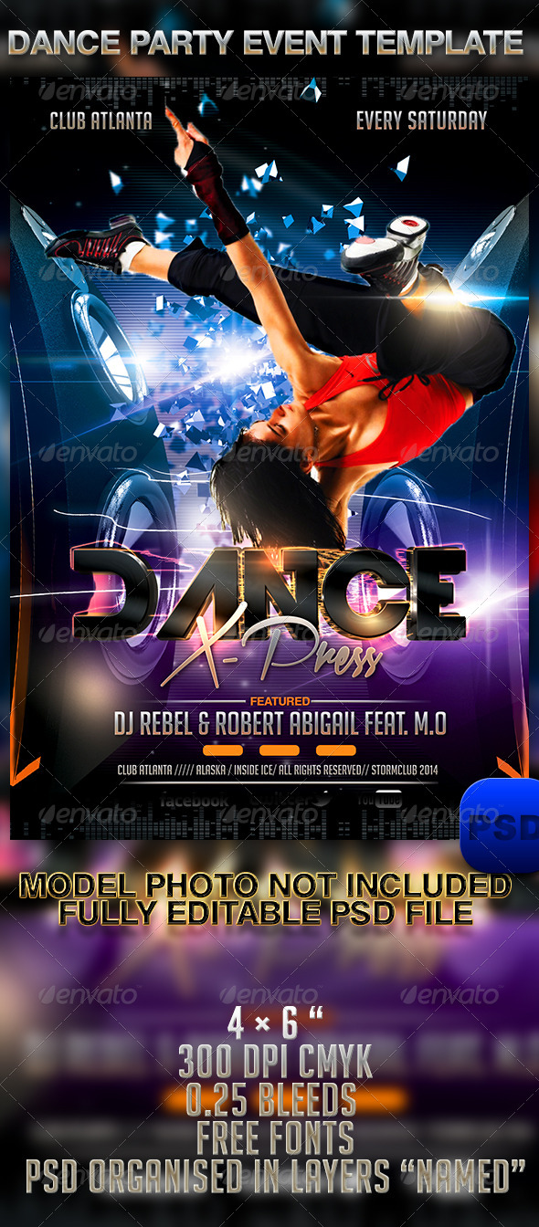 GraphicRiver Dance Party Event Template 6969076