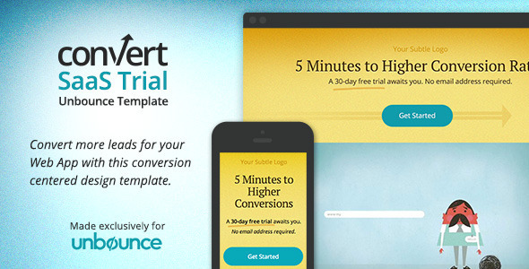 ThemeForest Unbounce Landing Page for Startups & Web Apps 6969464