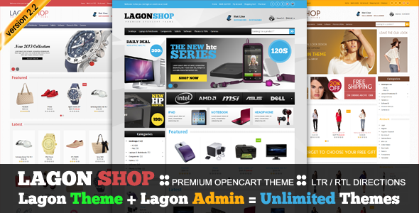 LagonShop - премиум тема для OpenCart с адаптивной версткой
