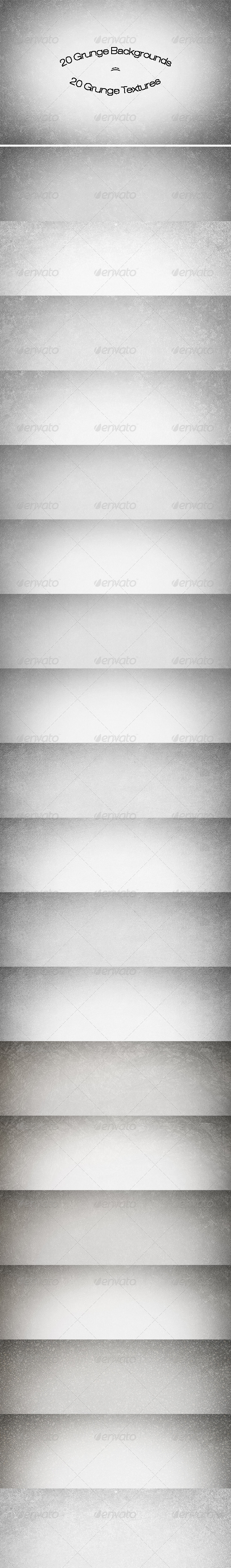 GraphicRiver 20 Grunge Backgrounds Textures 6965934