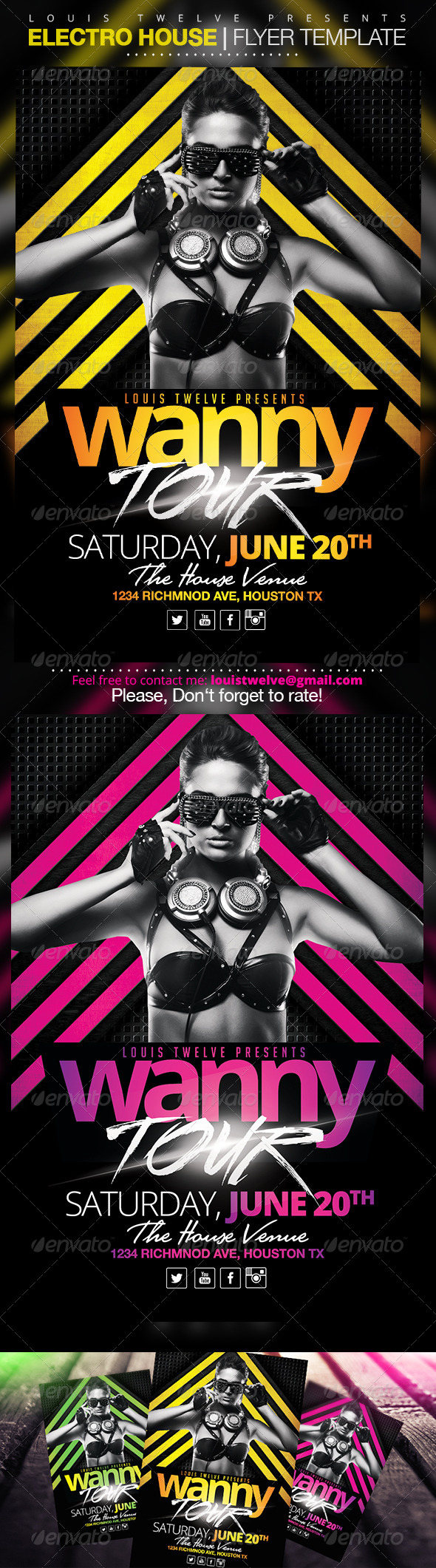 GraphicRiver Electro House 2 Flyer Template 6970945
