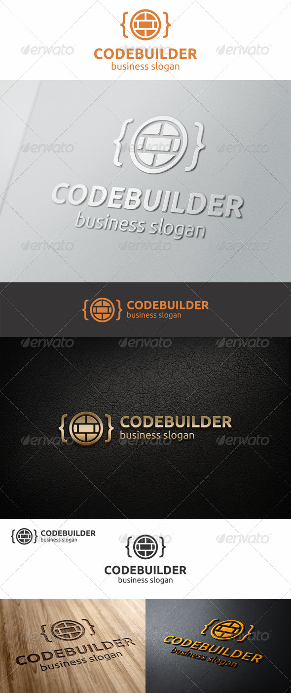 Code Builder Logo - Symbols Logo Templates