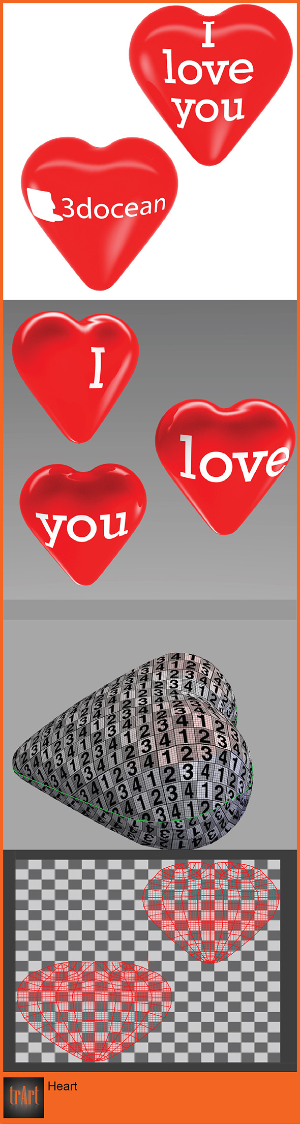 3DOcean Heart 3D Model 6971165