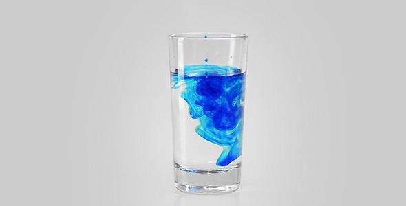 Blue Drop In Water