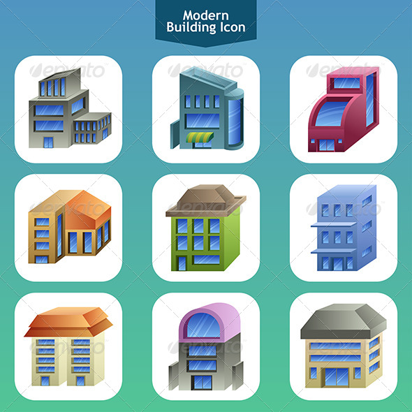 GraphicRiver Modern Building Icons 6971702