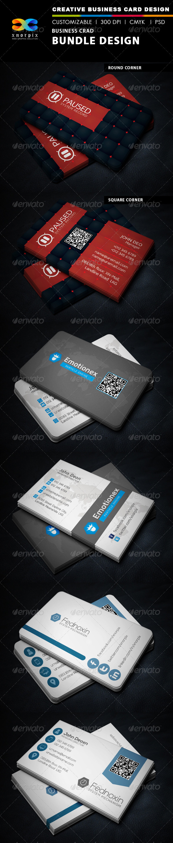 GraphicRiver Business Card Bundle 3 in 1-Vol 35 6971870