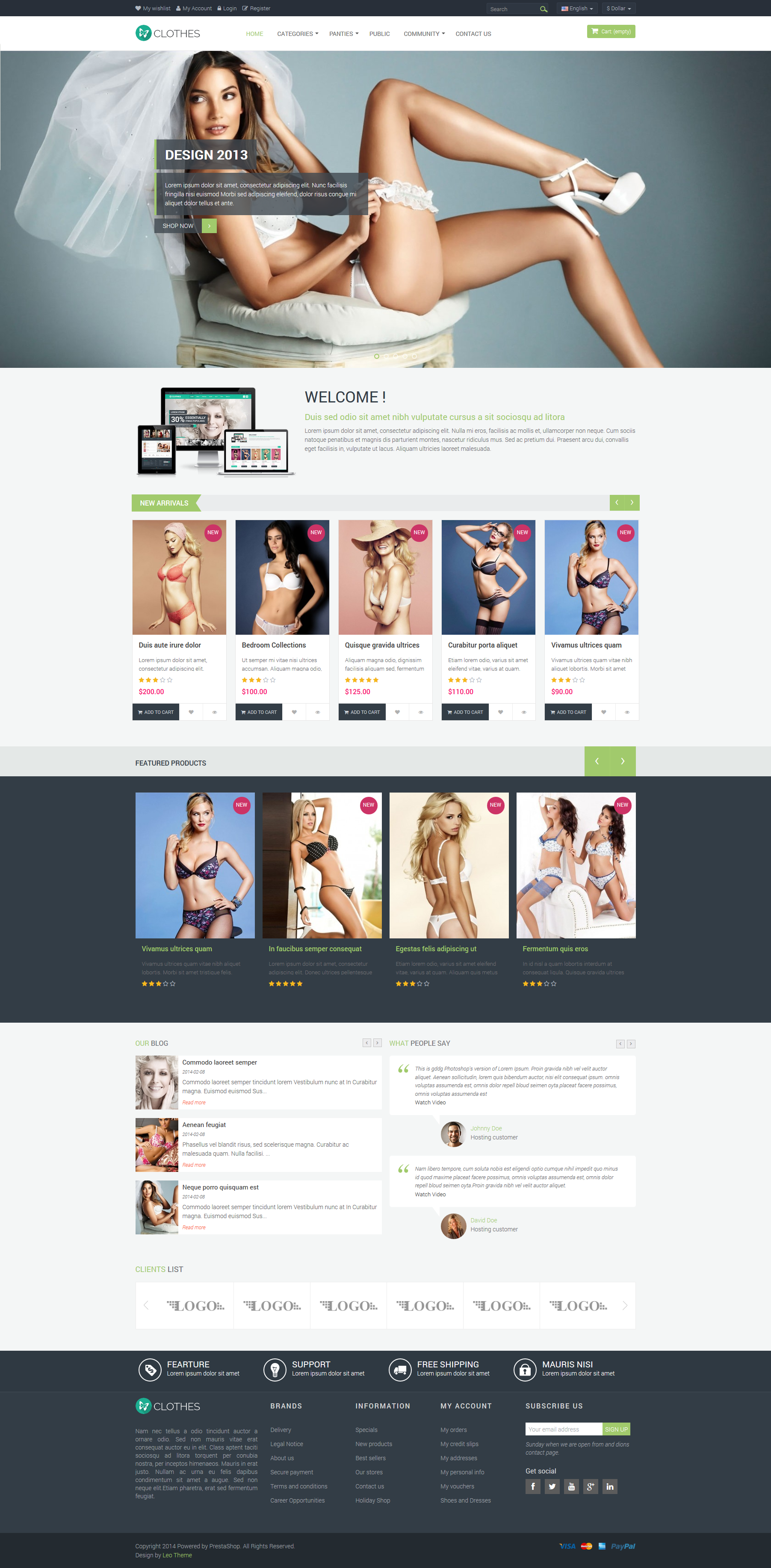 Leo Clothes Prestashop Theme