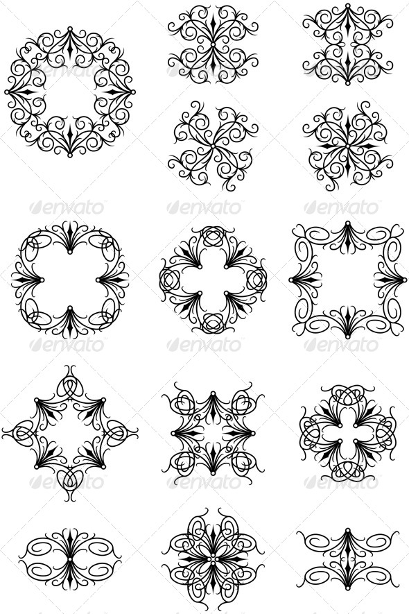 GraphicRiver Gothic Ornaments 6972306