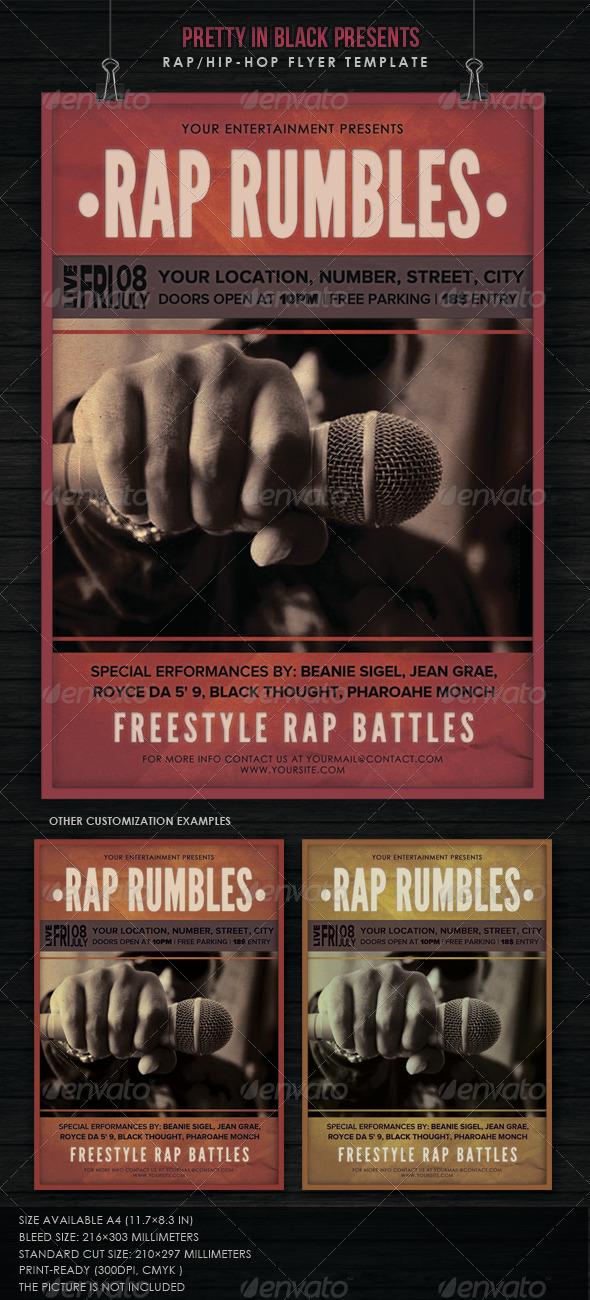 GraphicRiver Hip Hop Rap Concert 6952014