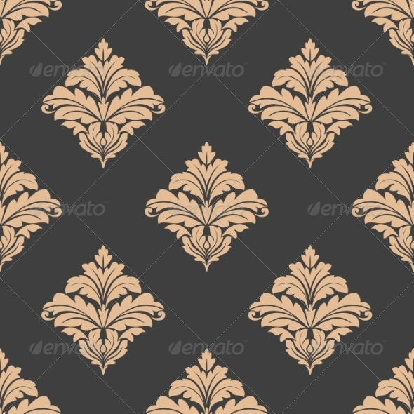 GraphicRiver Floral Damask Pattern 6972946
