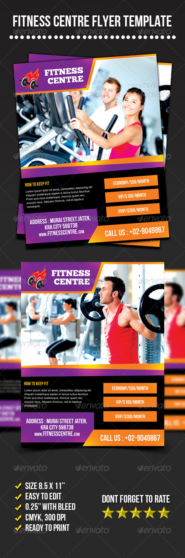 GraphicRiver Fitness Centre Flyer 6934160