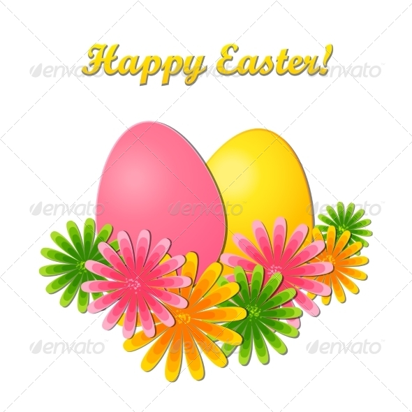GraphicRiver Easter Card 6973424