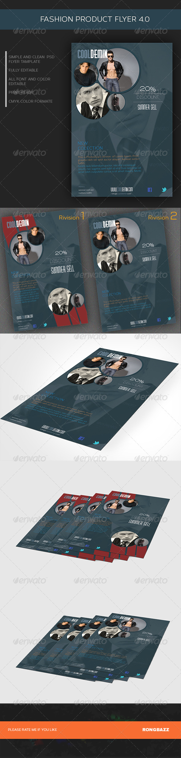 GraphicRiver Fashion Product Flyer 4.0 6973455
