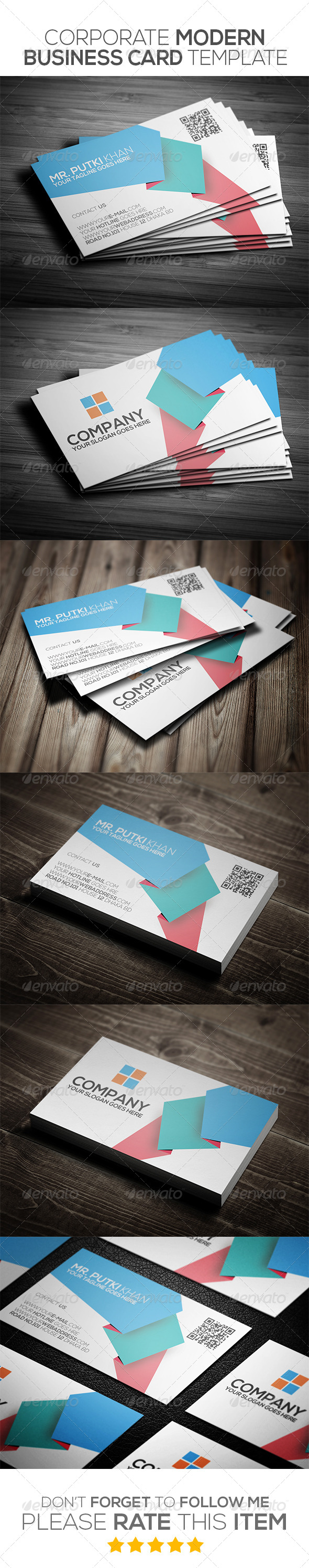 GraphicRiver Corporate Modern Business Card Template 6973456