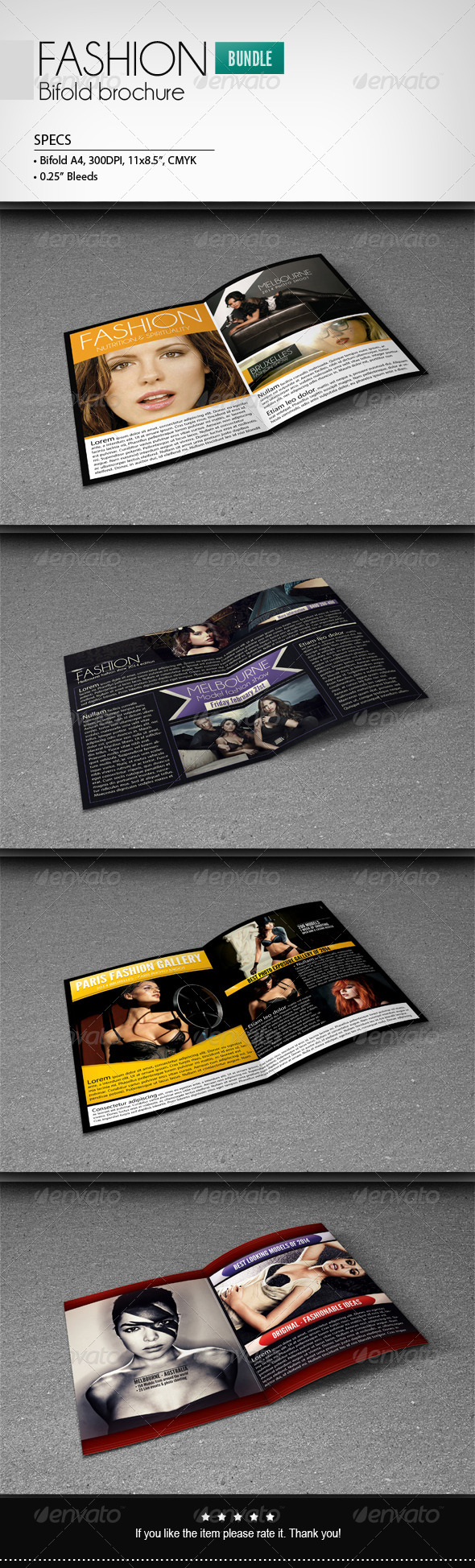 GraphicRiver Fashion Bifold Brochure [Bundle] 6973831