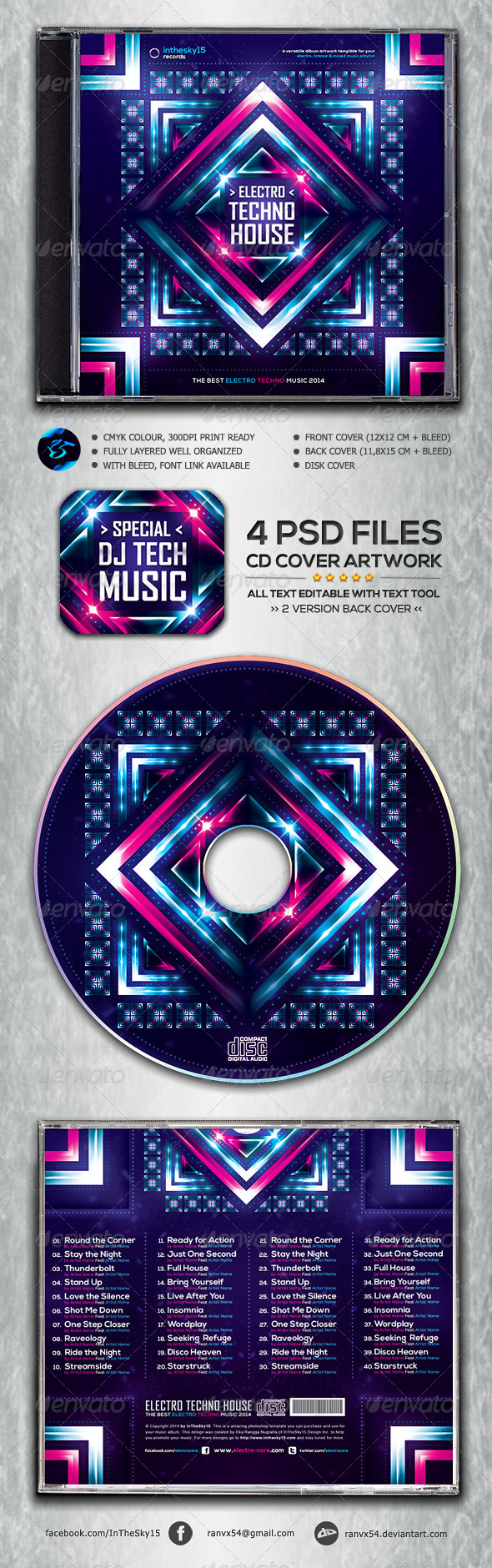 GraphicRiver Electro Techno House CD Album Artwork 6974100