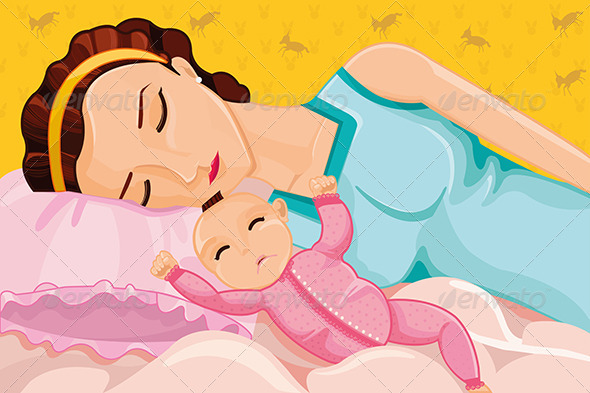 GraphicRiver Mother Sleeping with a Baby 6974193
