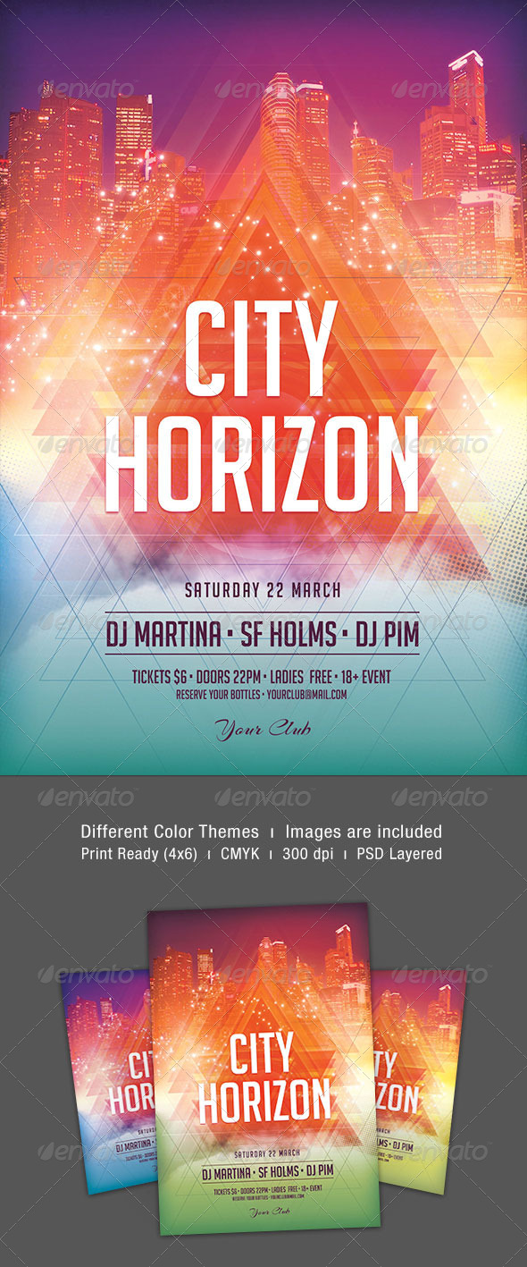 City Horizon Flyer - Clubs & Parties Events