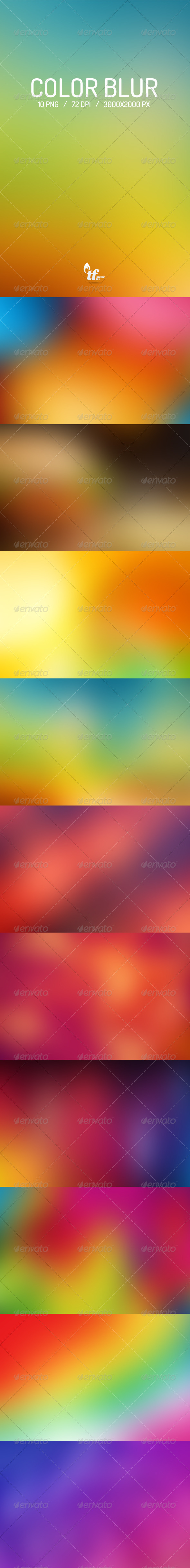 GraphicRiver Color Blur Backgrounds 6974286