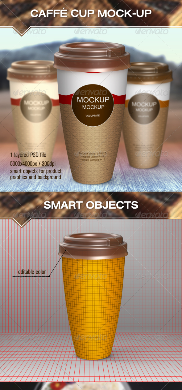 GraphicRiver Hot Drinks Paper Cup Mock-Up 6974426